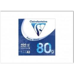 Clairefontaine Ramette 400 Feuilles Extra Blanc 80g Format A3 (lot de 2)
