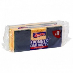 Spontex Eponges Grattantes Multi-Usages Stop-Graisse Par 9 (lot de 3 soit 27 éponges)
