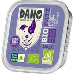 Dano Pâté poulet dinde BIO pour Chien barquette de 150g