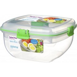 Sistema Boite alimentaire carrée Salade Max To Go 1,63L