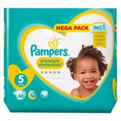 Pampers Couches Premium Megapack Taille 5 (11-16Kg) x68 (lot de 2)