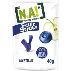 N.A! Biscuits apéritif fruit sticks myrtille 40g (lot de 20)