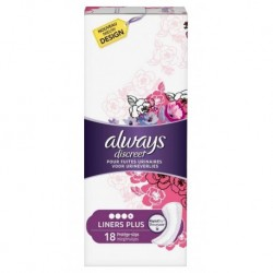 Always Discreet Protèges-Slips Pour Fuites Urinaires Liners Plus x18 (lot de 3)