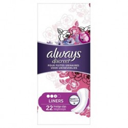Always Discreet Protèges-Slips Pour Fuites Urinaires Liners x22 (lot de 3)