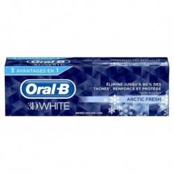 Oral-B Dentifrice 3D White Artic Fresh 75ml (lot de 3)