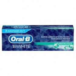 Oral-B Dentifrice 3D White Luxe Menthe Douce 75ml (lot de 3)
