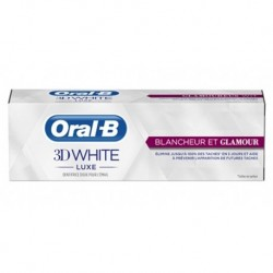 Oral-B Dentifrice 3D White Luxe Blancheur Et Glamour 75ml (lot de 3)