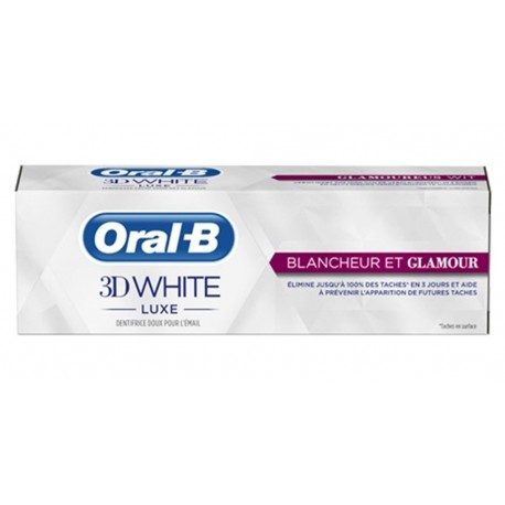 Oral-B Dentifrice 3D White Luxe Blancheur Et Glamour 75ml (lot de 3)