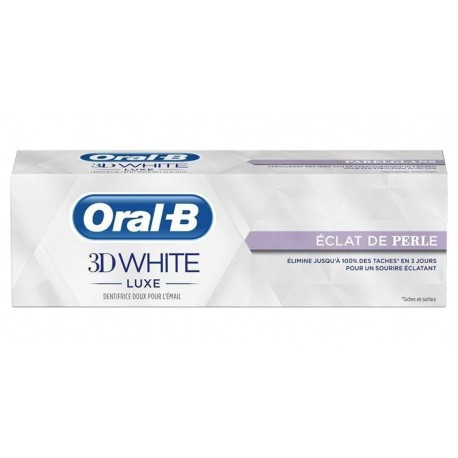 Oral-B Dentifrice 3D White Luxe Eclat De Perle 75ml (lot de 3)