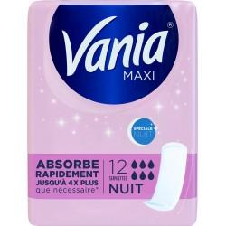 VANIA Serviettes hygiéniques Spéciale Nuit X12