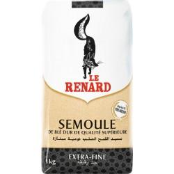 Le Renard Semoule de Blé extra-fine 1Kg (lot de 5)