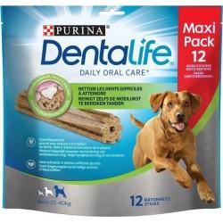 Purina Dentalife Bâtonnets Pour Chiens Maxi 25 à 40Kg Texture Alvéolée Facile à Mâcher Maxi Pack 426g (lot de 4 sachets)