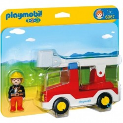 PLAYMOBIL 6967 1.2.3 - Camion De Pompier Avec Echelle Pivotante