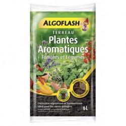 Algoflash Terreau Plantes Aromatiques Tomates et Légumes avec Engrais 6L (lot de 2 soit 12L)