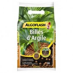 Algoflash Terreau Billes d'Argile Drainage et Aération 6L (lot de 2 soit 12L)