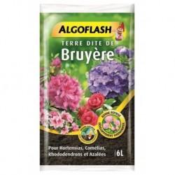 Algoflash Terreau Terre Dite de Bruyère pour Hortensias et Camélias 6L (lot de 2 soit 12L)