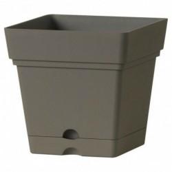 Deroma Pot Plastique à Réserve d'Eau Samba Longeur 17,5cm Largeur 17,5cm Hauteur 17cm (lot de 3)
