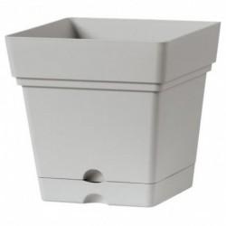 Deroma Pot Plastique à Réserve d'Eau Quadro Samba Longueur 18cm Largeur 18cm Hauteur 17cm (lot de 3)
