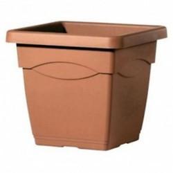 Deroma Pot Plastique Carré Circeo Longueur 32cm Largeur 32cm Hauteur 27,8cm (lot de 3)