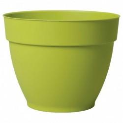 Deroma Pot Rond Plastique à Réserve d'Eau Vert Pistache Diamètre 21,6cm Hauteur 17cm (lot de 3)
