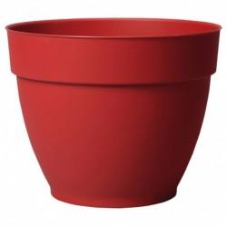 Deroma Pot Rond Plastique à Réserve d'Eau Ninféa Griotte Diamètre 30,2cm Hauteur 24cm (lot de 3)