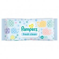 Pampers Lingettes Fresh Clean pour Bébé x64 (lot de 6 soit 384 lingettes)