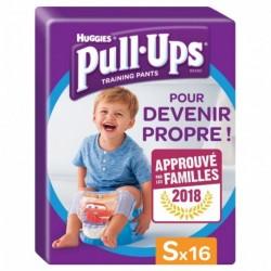 Huggies Culottes Pull-Ups Training Pants Taille S Garçon x16 (lot de 2 soit 32 culottes)