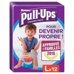 Huggies Culottes Pull-Ups Training Pants Taille L Garçon x12 (lot de 2 soit 24 culottes)
