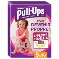 Huggies Culottes Pull-Ups Training Pants Taille S Fille x16 (lot de 2 soit 32 culottes)