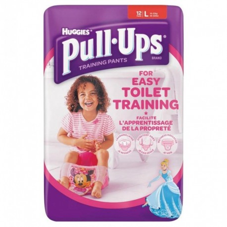 Huggies Culottes Pull-Ups Training Pants Taille L Fille x12 (lot de 2 soit 24 culottes)