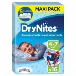 Huggies DryNites Sous-Vêtements de Nuit Absorbants (garçon 4-7ans) x16 (lot de 2 soit 32 sous-vêtements)