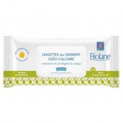 Biolane Lingettes au Liniment Oléo-Calcaire Nettoient et Protègent le Siège x64 (lot de 6 soit 384 lingettes)