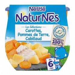 Nestlé Naturnes Les Sélections Carottes Pommes de Terre Cabillaud (dès 6 mois) par 2 pots de 200g (lot de 6 soit 12 pots)
