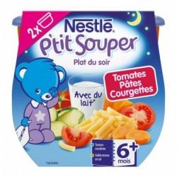Nestlé P'tit Souper Plat du Soir Tomates Pâtes Courgettes (+6 mois) par 2 pots de 200g (lot de 6 soit 12 pots)