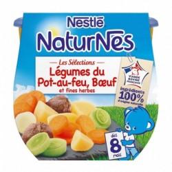 Nestlé Naturnes Les Sélections Légumes du Pot-au-feu Boeuf et Fines Herbes (dès 8 mois) par 2 pots de 200g (lot de 6 soit 12 pot