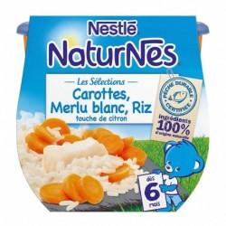 Nestlé Naturnes Les Sélections Carottes Merlu Blanc Riz (dès 6 mois) par 2 pots de 200g (lot de 6 soit 12 pots)