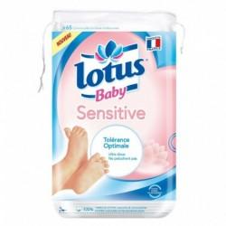Lotus Baby Sensitive Tolérance Optimale Ultra Doux x65 (lot de 4 soit 260 cotons)