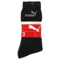 Puma Mi Chaussettes Noires Sport Logo Gris Taille 39 à 42 (lot de 6 paires)