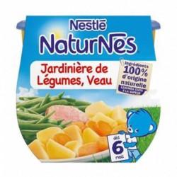 Nestlé Naturnes Jardinière de Légumes Veau (dès 6 mois) par 2 pots de 200g (lot de 6 soit 12 pots)