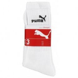 Puma Mi Chaussettes Blanches Sport Logo Noir Taille 39 à 42 (lot de 6 paires)