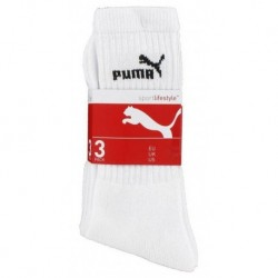 Puma Mi Chaussettes Blanches Sport Logo Noir Taille 43 à 46 (lot de 6 paires)