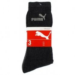 Puma Mi Chaussettes Noires Sport Logo Gris Taille 27 à 30 (lot de 6 paires)