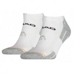 Head Chaussettes Performance Sneaker Gris Blanc Taille 39 à 42 (lot de 4 paires)
