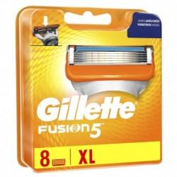 Gillette Fusion5 Lames de Rasoir Améliorées pour Homme 8 Recharges XL