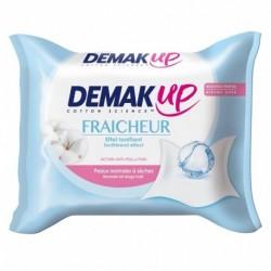 Demak Up Fraîcheur Effet Tonifiant Peaux Normales à Sèches x25 Lingettes (lot de 4)