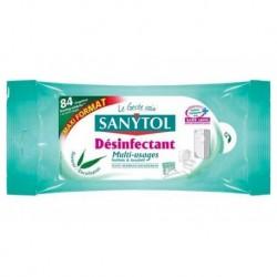 Sanytol Lingettes Désinfectantes Multi-Usages Maxi Format Senteur Eucalyptus 84 Lingettes (lot de 4)