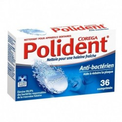 Polident Anti-Bactérien aide à Réduire la Plaque 36 Comprimés (lot de 3)