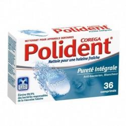 Polident Pureté Intégrale Anti-Bactérien Blancheur 36 Comprimés (lot de 3)